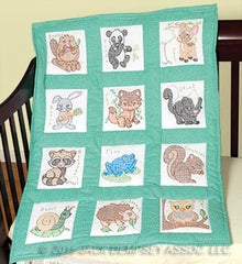 Nursery Quilt Blocks Forest Friends