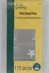 Dritz Quilting - Flathead Numbered & Directional Pins 115ct