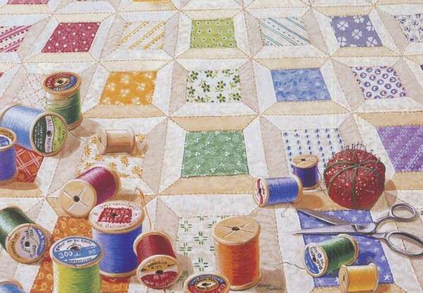 Boxed Note Cards Spools Quilt