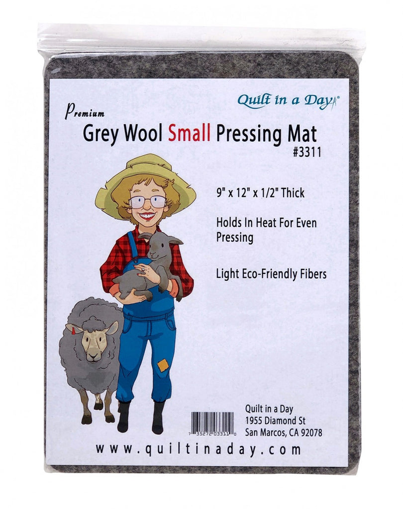 Grey Wool Small Pressing Mat