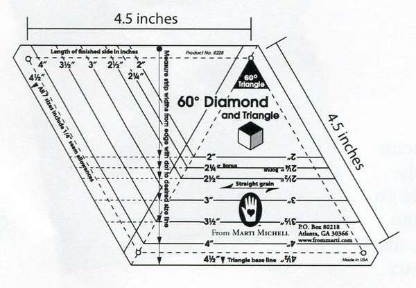 60 Degree Diamond Template
