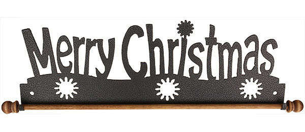 Merry Christmas with Dowel Holder