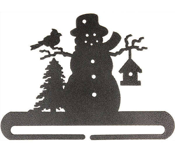 Frosty Snowman Split Bottom Holder Charcoal