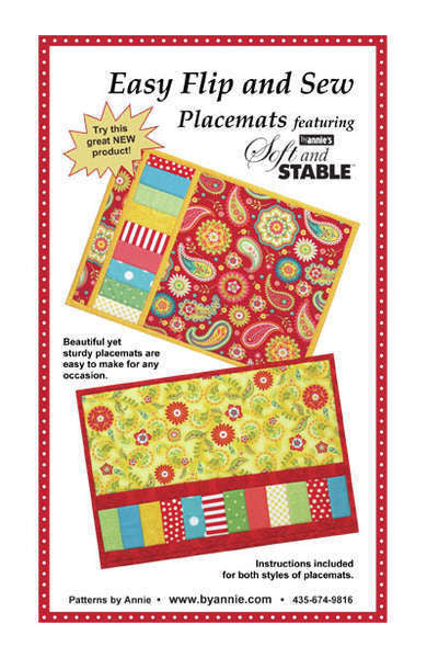 Easy Flip Sew Placemats