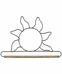 "6"" Sun with Dowel Gray"