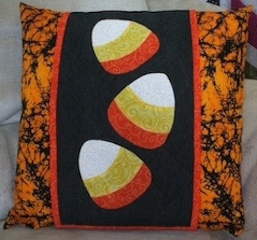 Candy Corn Pillow Wrap
