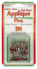 Red head Applique Pins