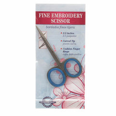 Fine Embroidery Scissor with Curved Tip 3 1/2in