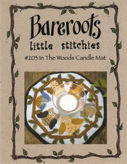 Little Stitchies - In the Woods Candle Mat