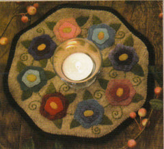Little Stitchies - Flowers Candle Mat