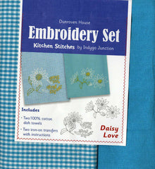 Towel Embroidery Set 2 - Daisy Love