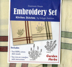 Towel Embroidery Set 2 - Garden Herbs