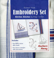 Towel Embroidery Set 2 - Anchors Away