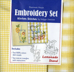 Towel Embroidery Set 2 - Lemonade Stand