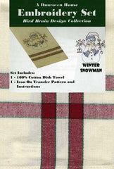 Towel Embroidery Set 1 - Snowman