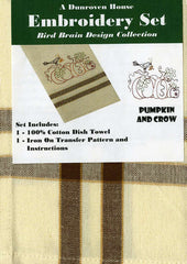 Towel Embroidery Set 1 - Pumpkin and Crow