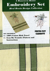 Towel Embroidery Set 1 - Fresh Cut Carrots