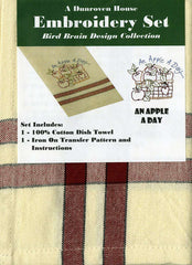 Towel Embroidery Set 1 - An Apple A Day