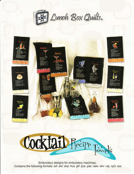 Cocktail Recipe Towels with CD