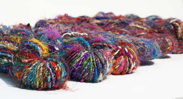 Carded Recycled Silk Sari Yarn 80yd 100g