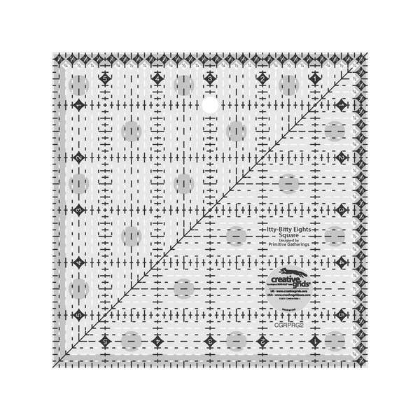 Creative Grids Itty-Bitty Eights Square Ruler 6in x 6in