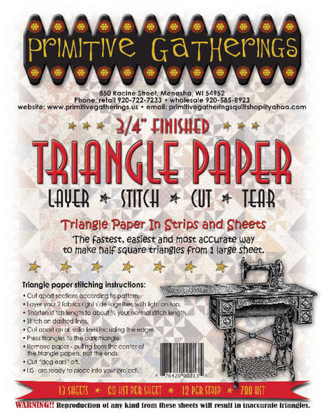 Triangle Paper - 3/4in
