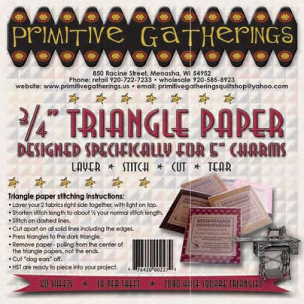 Triangle Paper - 3/4in for 5in Charms