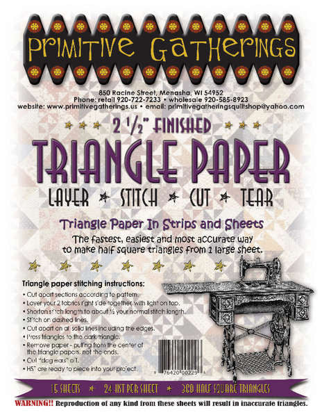 Triangle Paper - 2-1/2in