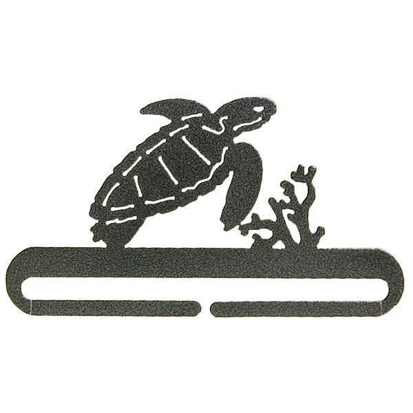 6in Sea Turtle Split Bottom Holder Charcoal