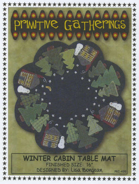 Winter Cabin Table Mat