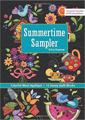 Summertime Sampler - Colorful Wool Appliqué Sunny Quilt Blocks