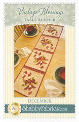 Vintage Blessings Table Runner - December