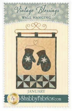 Vintage Blessings Wall Hanging - January
