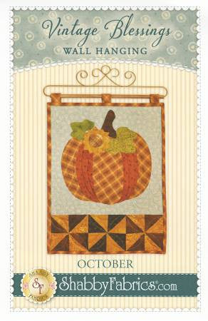 Vintage Blessings Wall Hanging - October