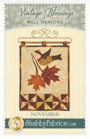 Vintage Blessings Wall Hanging - November