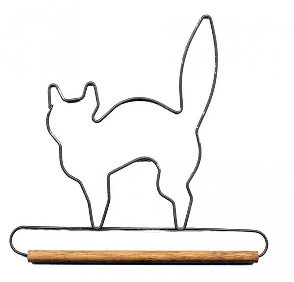 6in Black Cat Decorative Craft Hanger