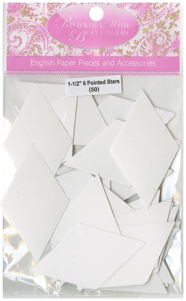 1-1/2in 6 Pointed Star Papers (50 pieces per bag)