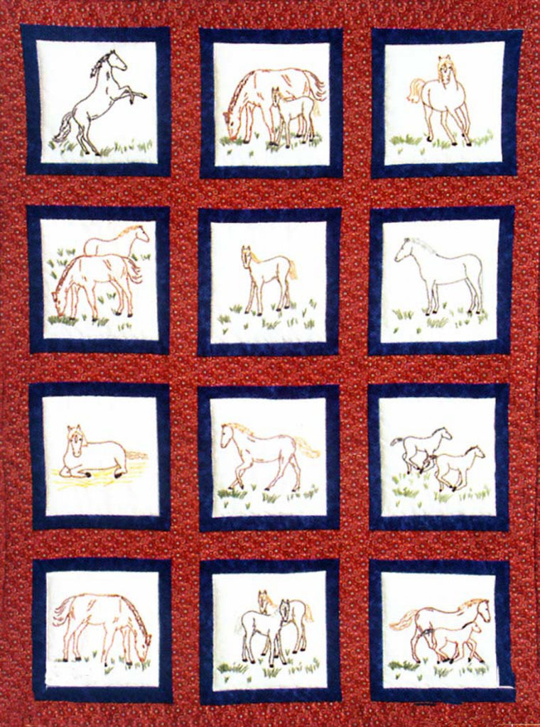 Horses Quilt Square Themes