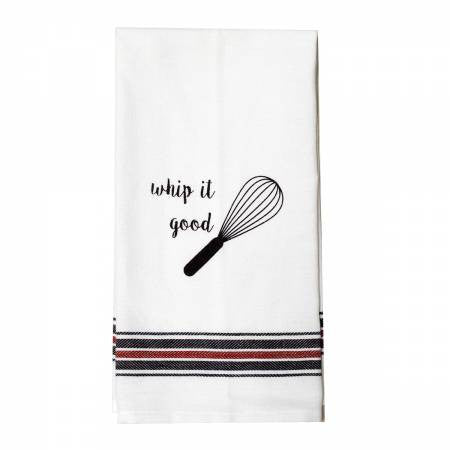 Appliqued Tea Towel - Whip It Good