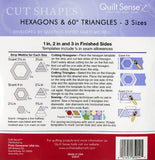 Quilt Sense Hexagons & 60 Degree Triangles 3 Sizes