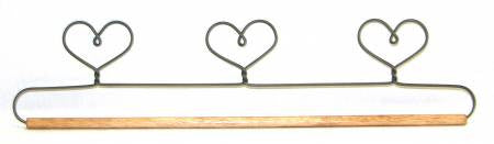 15in Three Heart Holder With Dowel