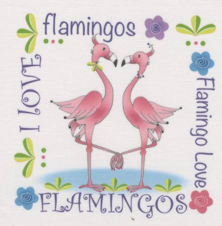 Art Panel - Flamingo Love