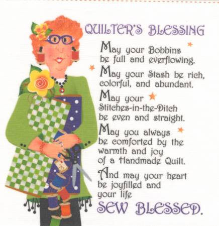 Art Panel - Quilter's Blessing