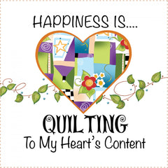 Art Panel 6in Happiness Quilting