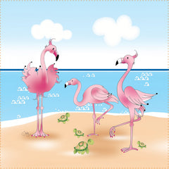 Art Panel Flamingos