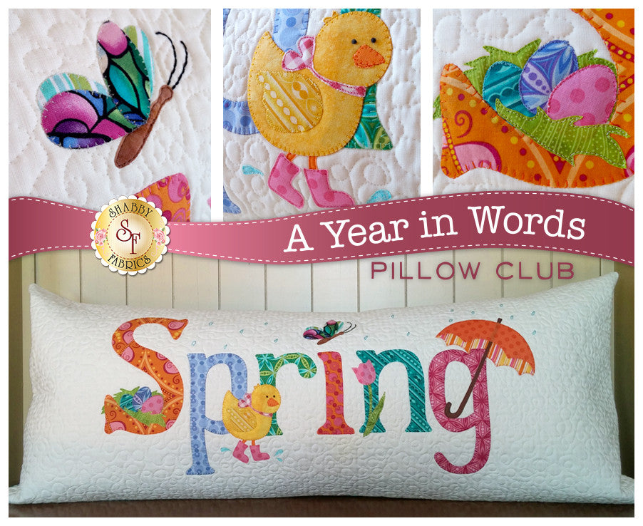 A Year In Words Pillows - Spring