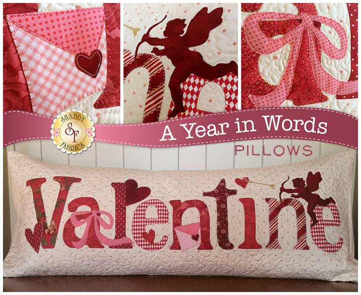 A Year In Words Pillows - Valentine