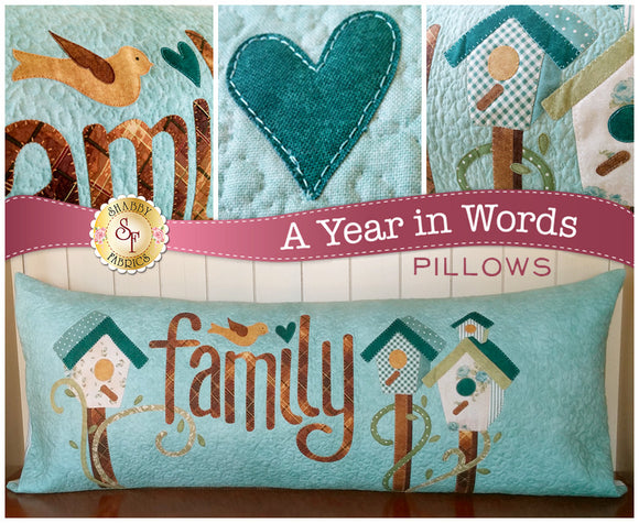 A Year In Words Pillows - Family