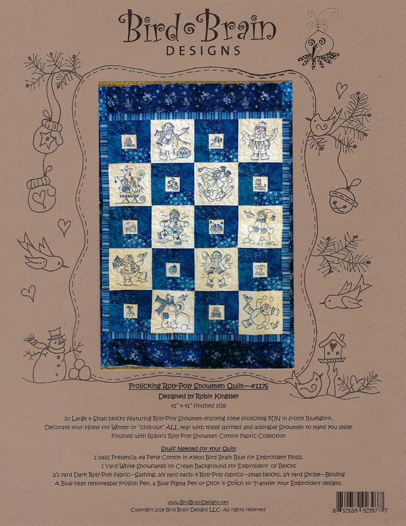 Frolicking Roly-Poly Snowmen Quilt