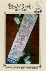 Yard of Snowmen Table Runner